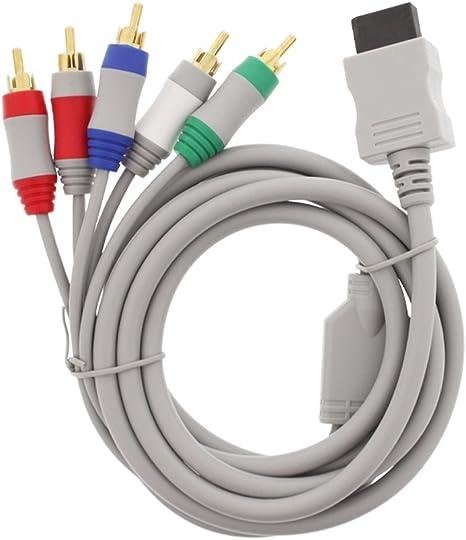 anyqoo 6 pies Wii Cable de audio y vídeo componente HDAV componente HD AV Cable para