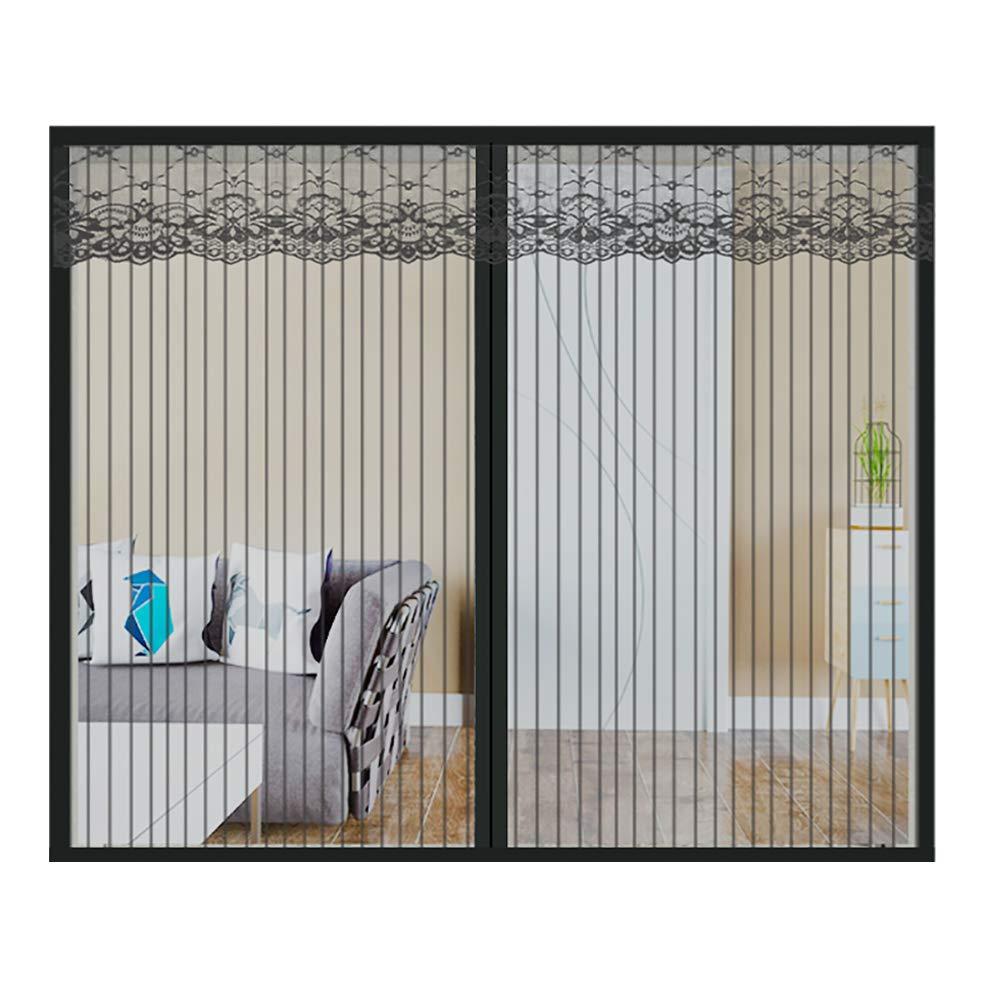 16x39inch Ruber Fliegennetz Ohne Bohren F/ür Fenster,Magnet Insect Stop Fenster-Moskitonetz Mit Klettband,Insektenschutz Fenstervorhang,Fliegengitter,Black,40x100cm