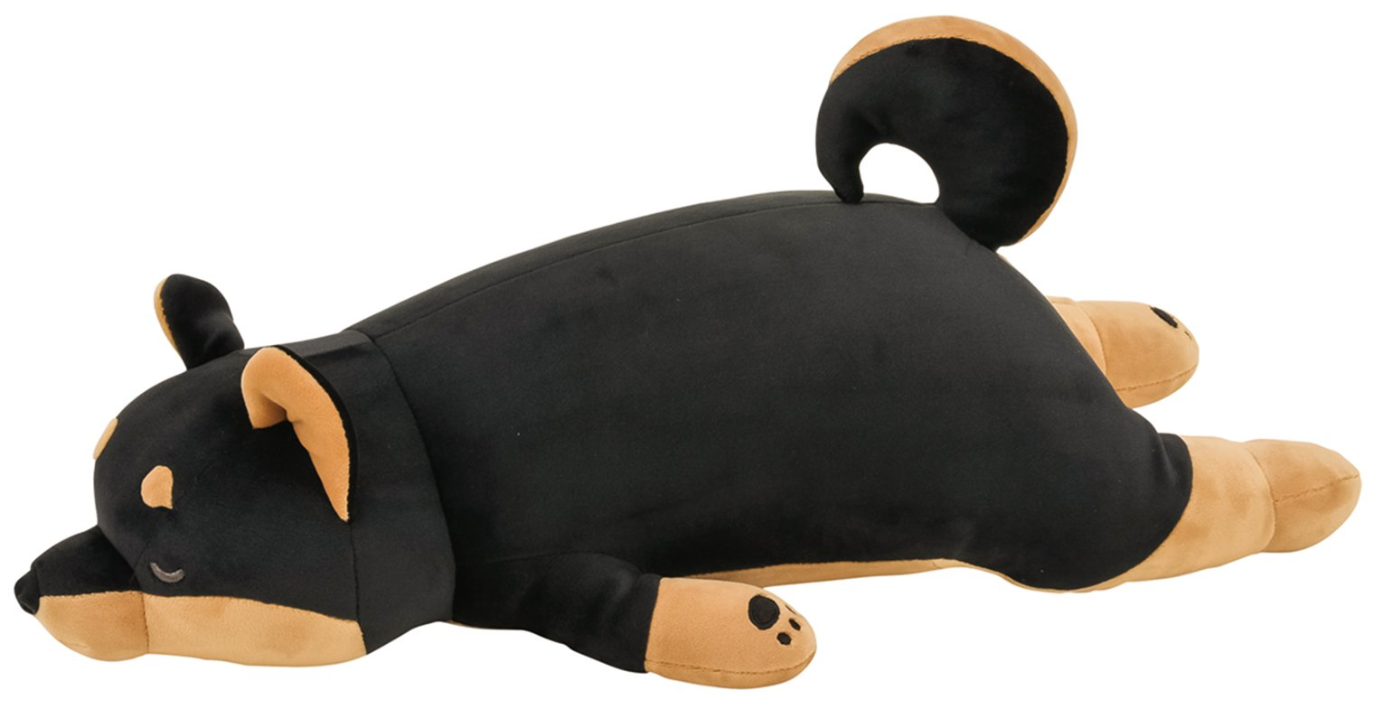 LivHeart Premium Nemu Nemu Sleepy head Animals Body Pillow Black Plush Dog KuroShiba 'Kotetsu' size M (22''x9.5''x5.5'') Japan import 48769-73 Huggable Super Soft Stuffed Toy