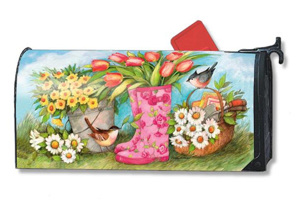 MailWraps Garden Boots Mailbox Cover #01104 by MailWraps (Image #1)