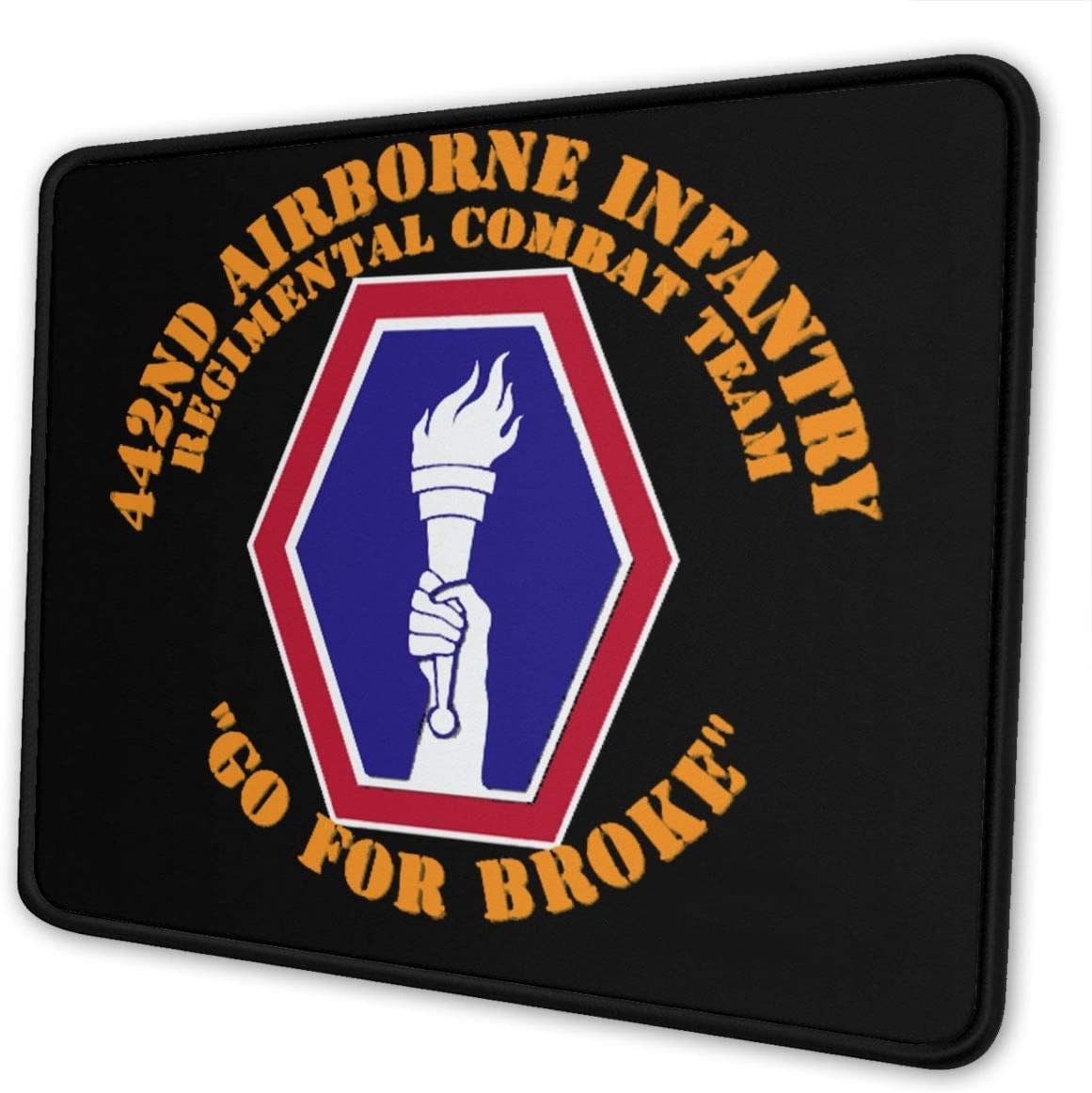 442nd Airborne Infantry Regimental Mouse Pad Non-Slip Rubber Gaming Mouse Pad Rectangle Mouse Pads for Computers Game Office
