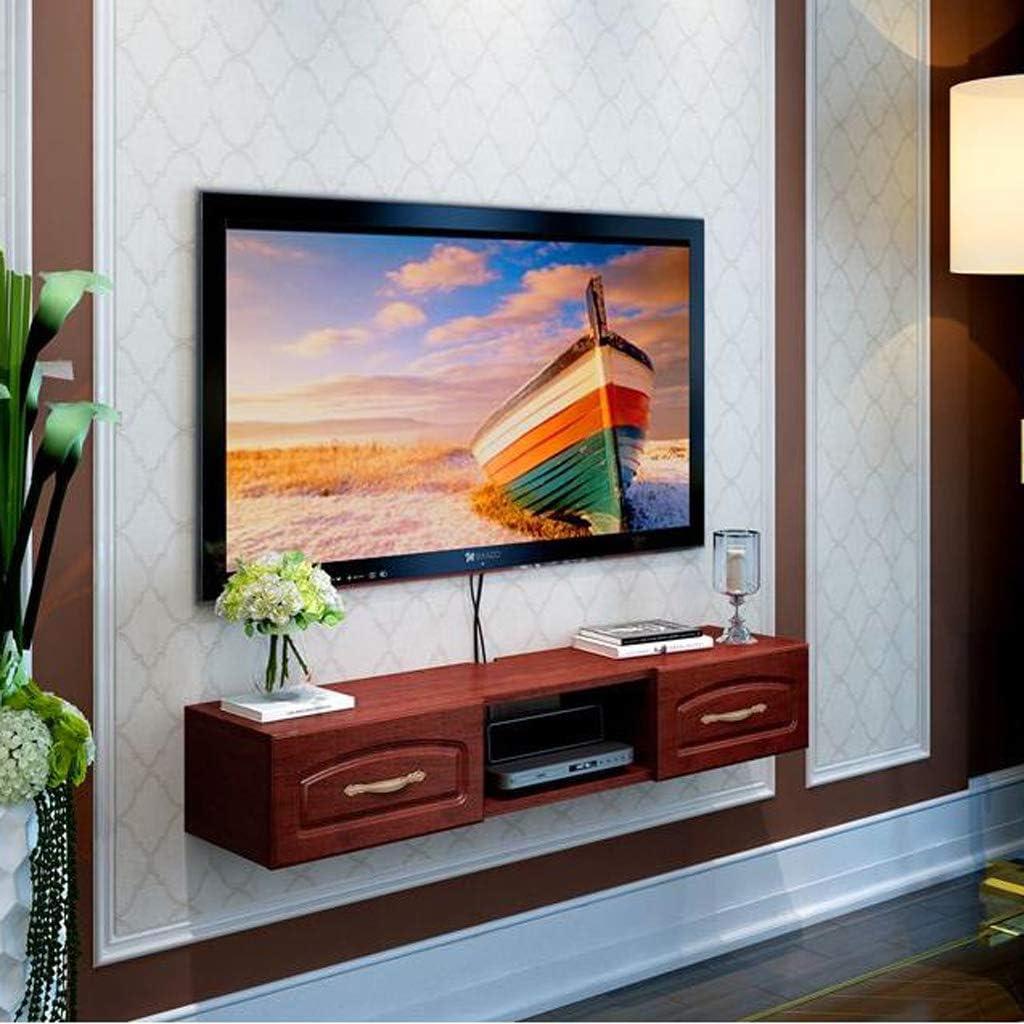 Estante de Pared para TV Mueble de Pared para TV TV Estante Flotante Estante de Equipo Multimedia Fondo de TV Decoración de Pared Estante Soporte para TV (Color : Brown): Amazon.es: Electrónica