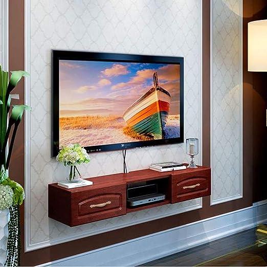 AFEO-Floating shelf Estante de Pared para TV, para Montar en la Pared, Mueble de Pared Flotante para TV, Estante para Equipo Multimedia, Estante para TV, decoración de Pared: Amazon.es: Juguetes y juegos