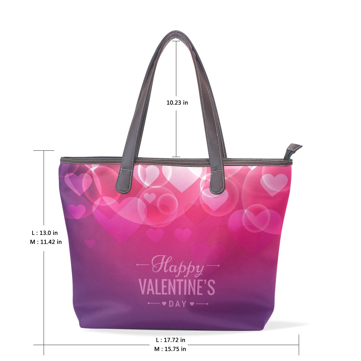 4a67eaf5cd Amazon.com | Happy Valentine's Day Women's Fashion Large Shoulder Bag  Handbag Tote Purse for Lady | Travel Totes