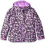 Columbia Girls Snowcation Nation Jacket, Black Checker Print, Medium