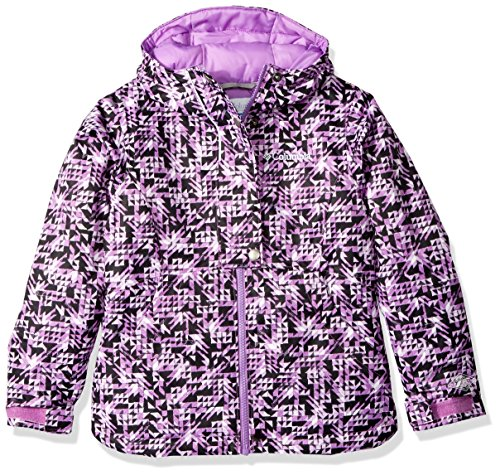 Columbia Girls Snowcation Nation Jacket, Black Checker Print, Medium by Columbia