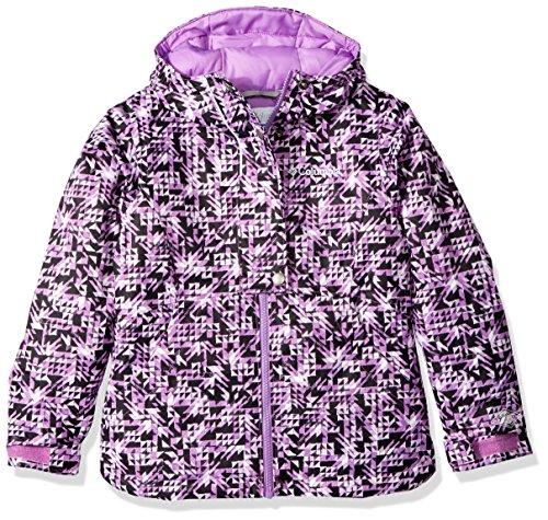 Columbia Girls Snowcation Nation Jacket, Black Checker Print, X-Small by Columbia