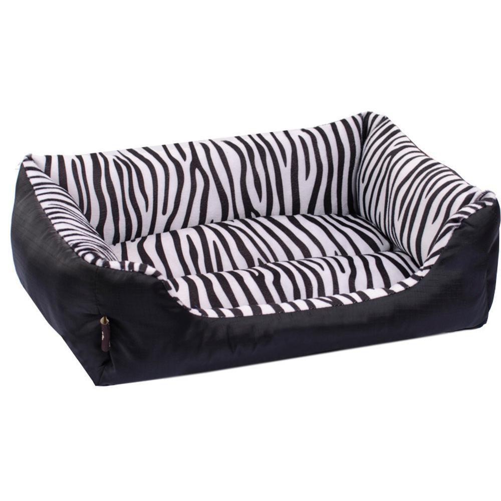 Aoligei Pet Nest Zebra modello rettangolare lettiera cane letto perfetto per prendere il sole Mat, pisolino & sonno 68  55  16cm
