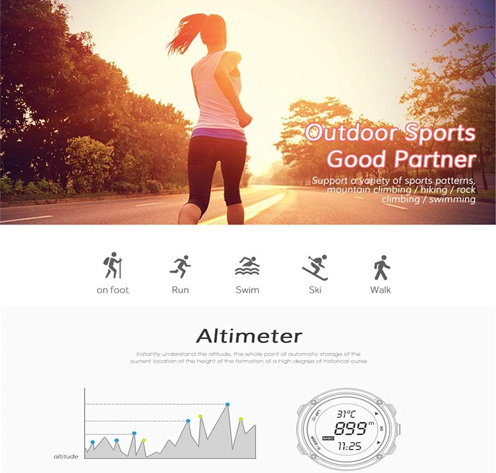 Amazon.com: SPOVAN - Reloj de pulsera deportivo para hombre ...