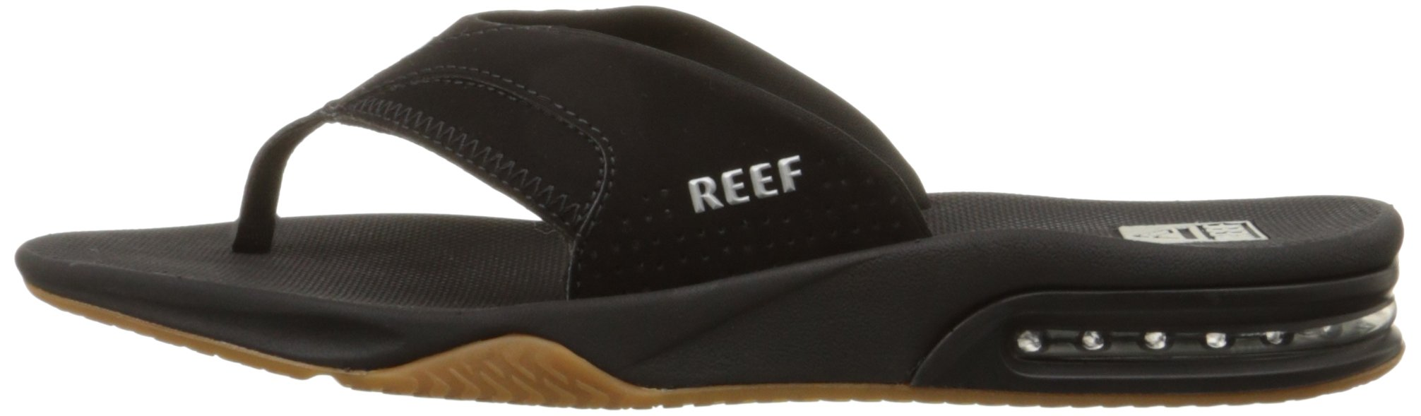 Reef Fanning Mens Sandals Bottle Opener Flip Flops for Men,Black/Silver,12 M US by Reef (Image #5)