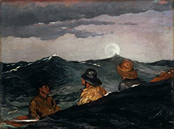 On the Beach  by Winslow Homer  Giclee Canvas Print Repro