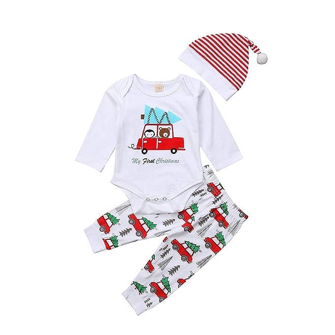 Amazon.com: Conjunto de pijama para bebé y niña, ropa de ...