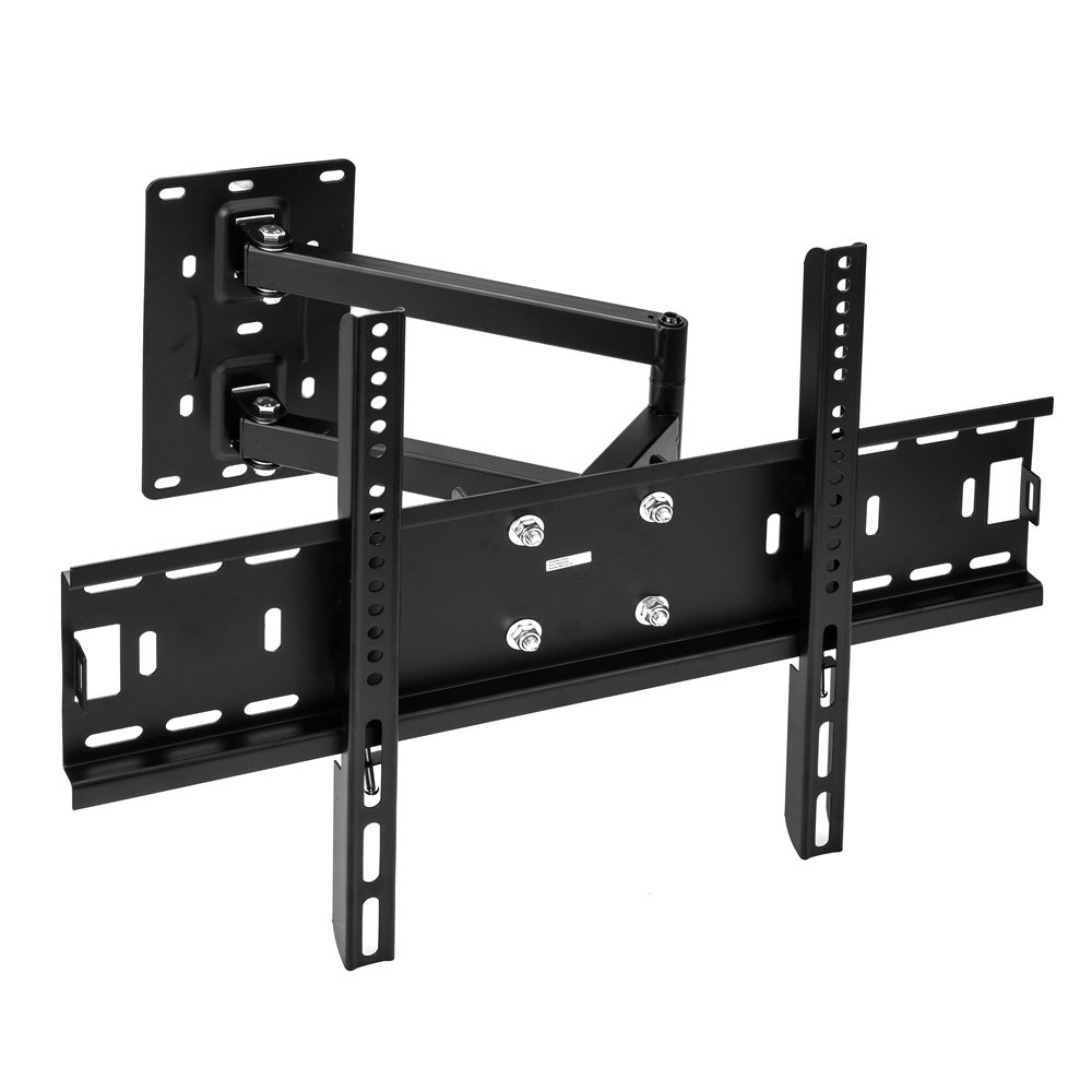 Vemount Corner TV Wall Mount Bracket Tilt Swivel Full Motion Articulating Arm for most 26-55 Inch LED, LCD Plasma Smart TV, VESA up to 500x400mm and 99 LBS, with Level Adjustment by Vemount