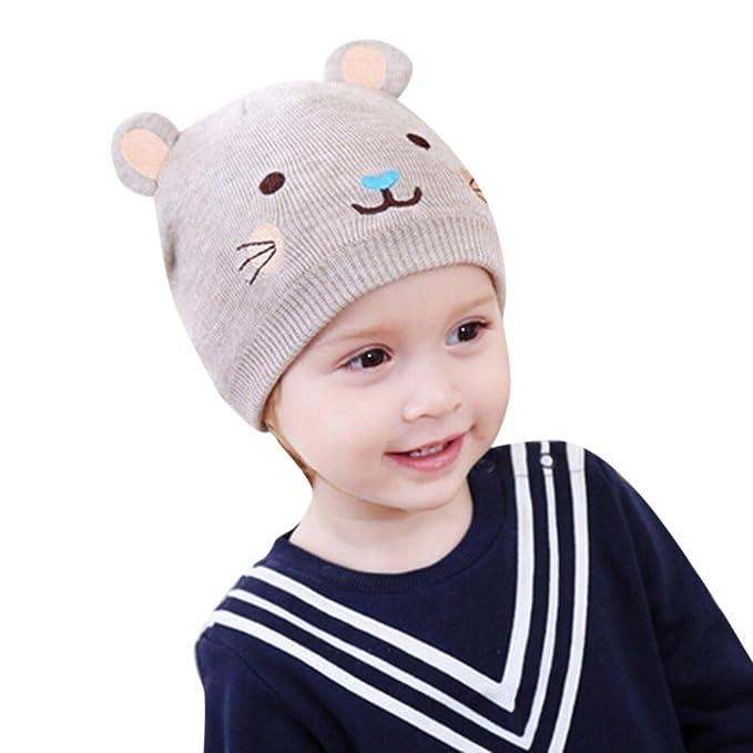 Jiangfu Kinderkarikaturkatze Gestrickter Wollhutneugeborene Baby
