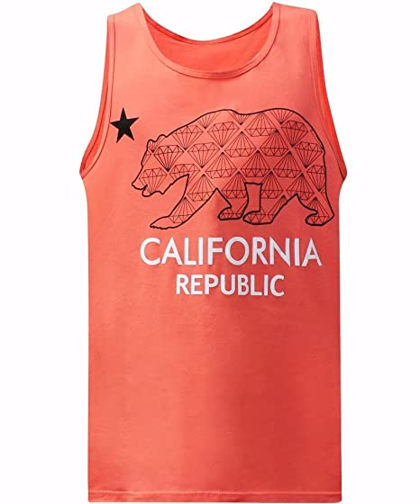 41009fa33 tees geek California Republic Bling Bear Men's Muscle Tee Tank Top -  (Small) -