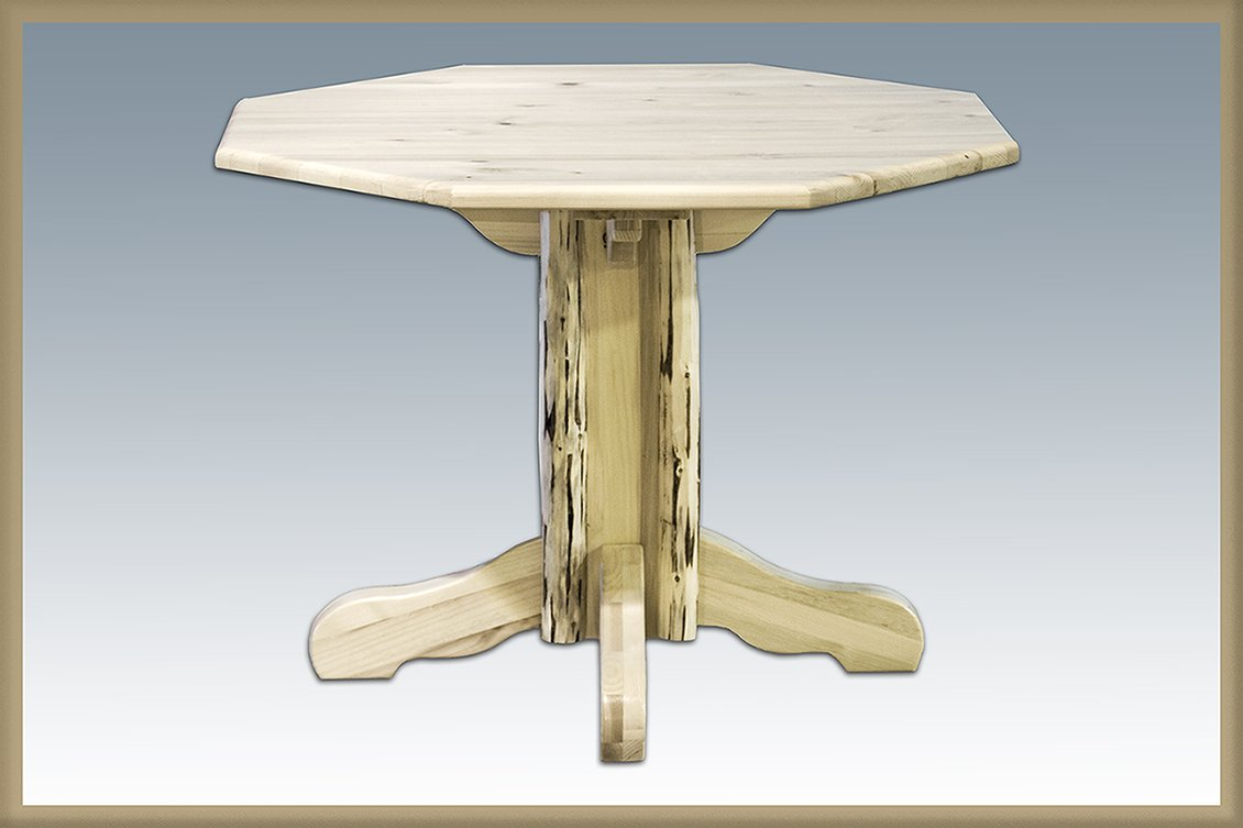 Montana Woodworks Montana Collection Center Pedestal Table with Round Table Top, Ready to Finish by Montana Woodworks