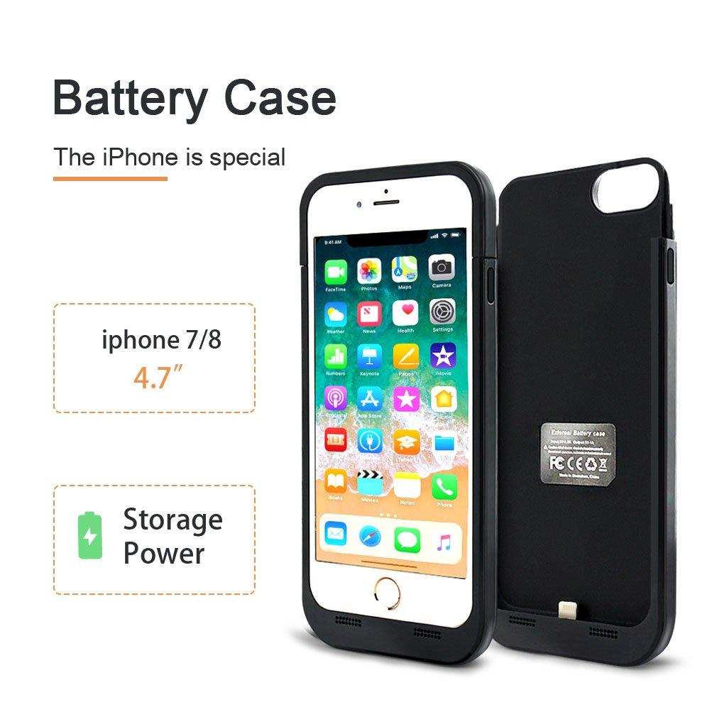 Amazon.com: 4500 mAh Funda Cargador de carga de la batería ...