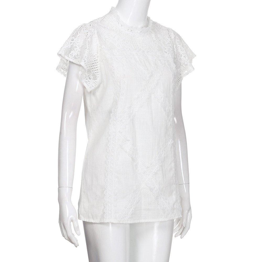 4c829700 UOKNICE Women O-Neck Sleeveless Pure Color Vest Chiffon Fold Business Tops  T-Shirt Blouse at Amazon Women's Clothing store: