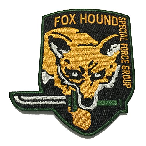 Foxhound Patch Special Force Applique Embroidered Sew Iron On Patch - APPLIQUE EMBROIDERED - Clothing Shirts Pants Novelty Iron on with heat or sew on - Decorate Bags Caps Towels (Halloween Food Grapes Eyeballs)