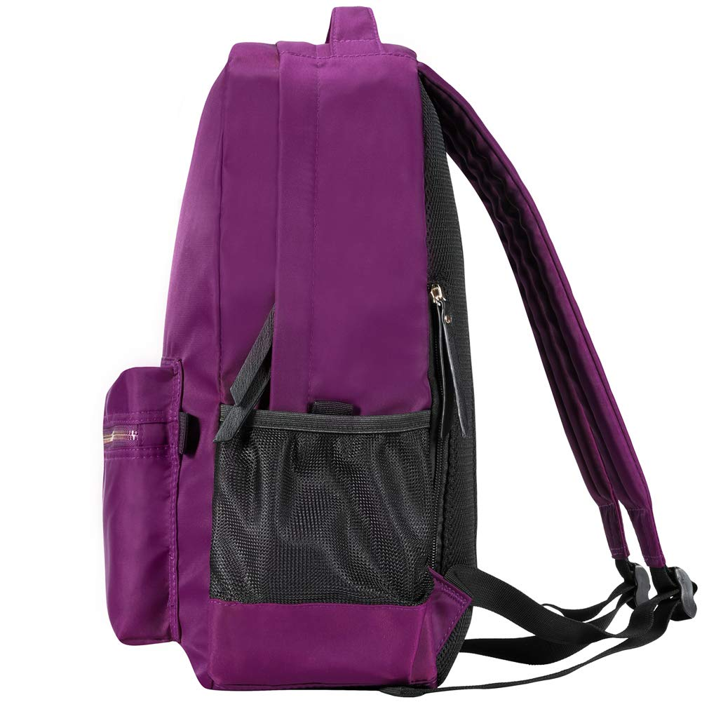 HawLander Casual Nylon Backpack for Women or Girls Lightweight and Water Resistant