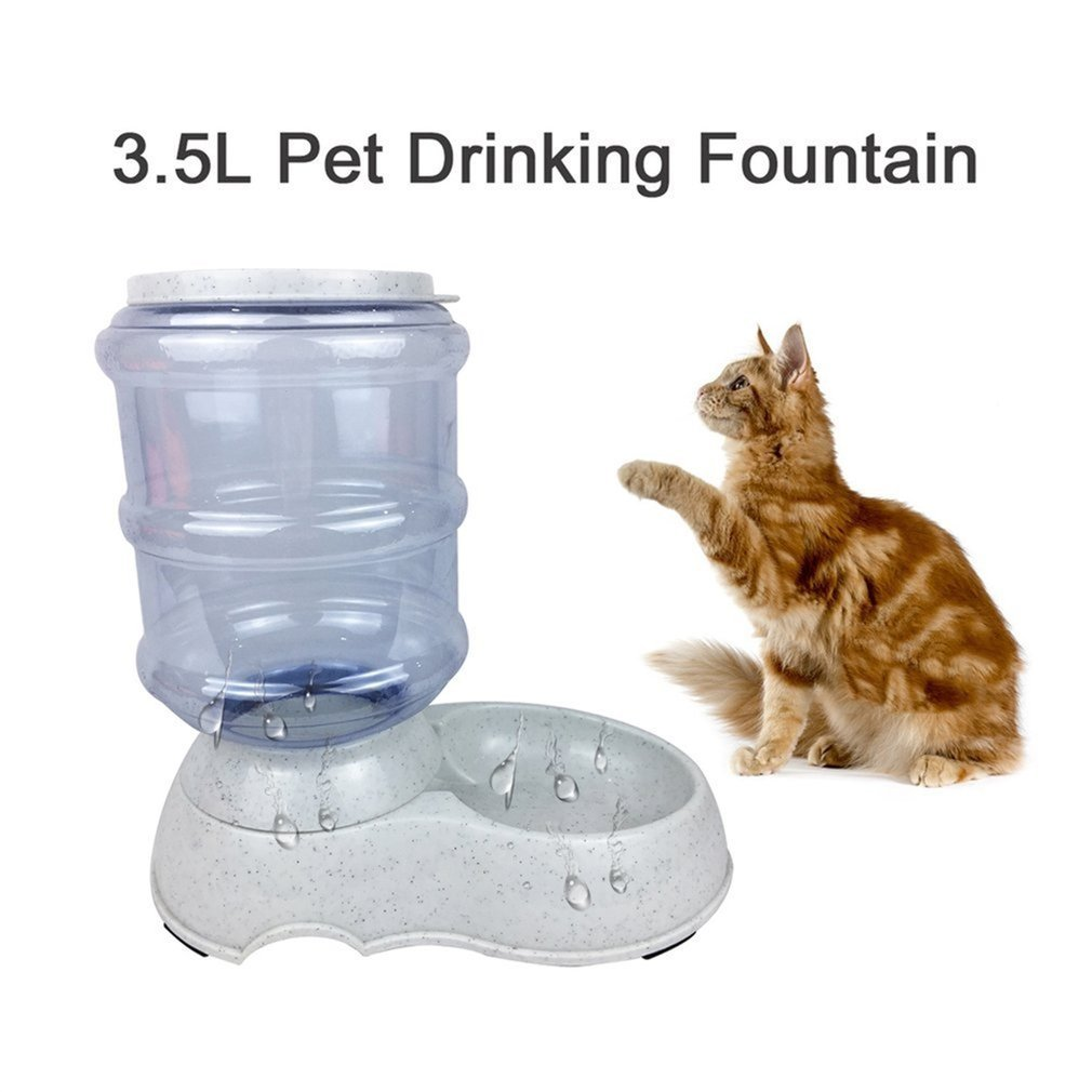 Gugutogo Distributeur Automatique d'eau de Chat d'alimentateur d'animal familier de 3.5L de Fontaine d'eau de Chat (Couleur: Gris)