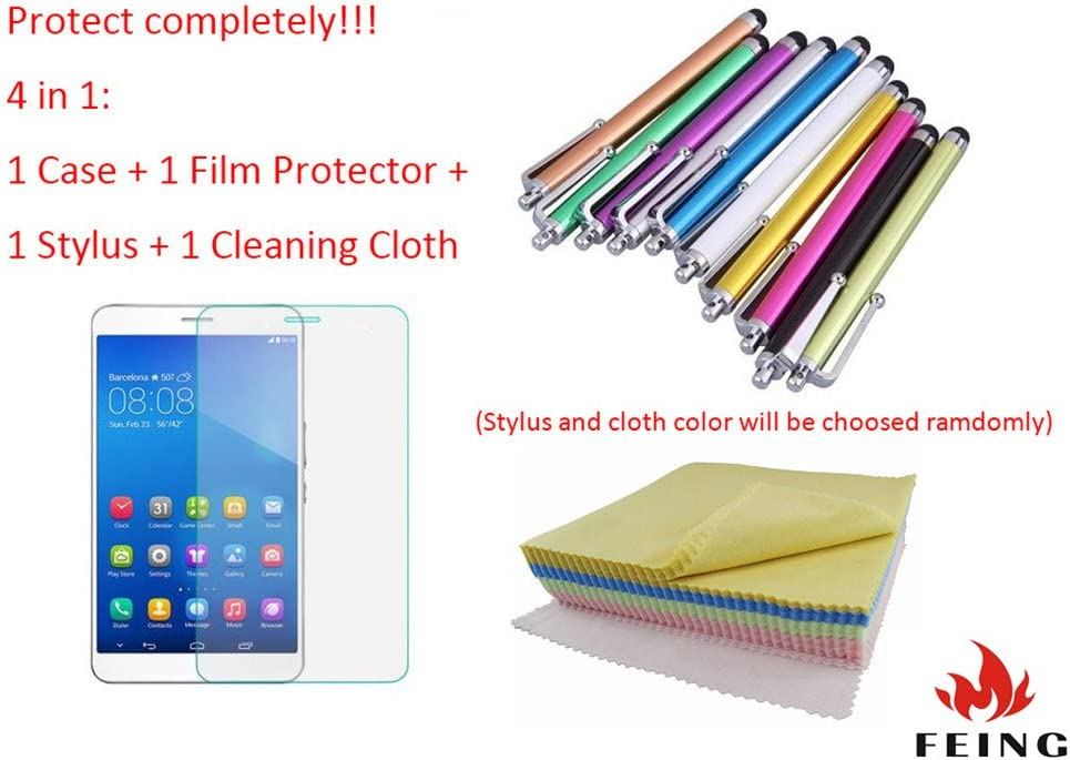 360 Degree Rotating PU Leather Case iPad Case Smart Cover for Samsung Galaxy Tab A 7.0 SM-T280//SM-T285 FEING Samsung Galaxy Tab A 7.0 Case with Stylus x1 /& Screen Film x1 /& Cloth x1 #XZL Red