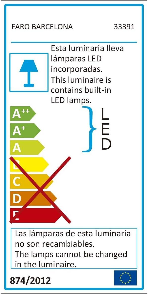 /Kit Luce Nero LED 17/W 3000/K Eter Faro 33391/ Tube Just Fan