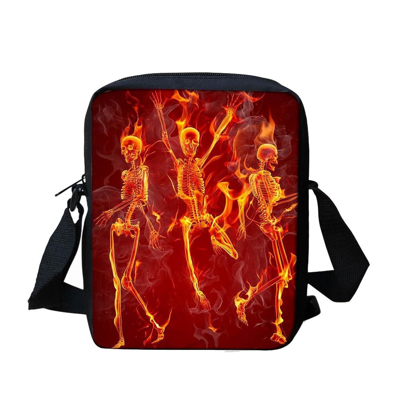 b919412dc6 Cool Skull Custom Messenger Bag for School Boy Kids Satchel Bag for Travel