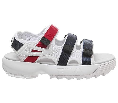 ccbe5dd1c Fila Disruptor Sandal White Fila Navy Fila Red - 3 UK