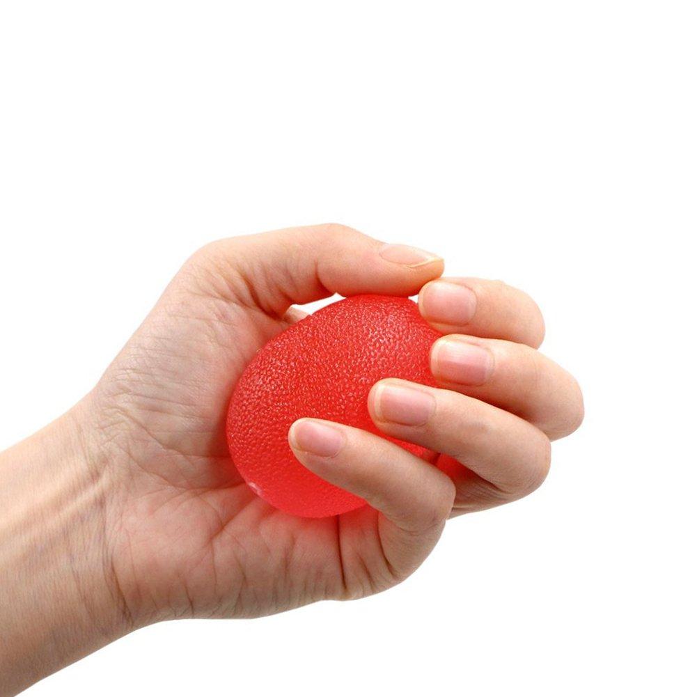 XDLink Lot de 3 Muscleur de Main Egg Balle Anti Stress Balle R/é/éducation Main Souple Moyen pour Diminution du Stress R/é/éducation de la Main