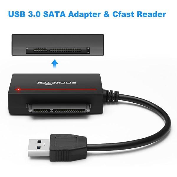 Rocketek CFast 2.0 Lector de tarjetas + USB 3.0 a SATA ...