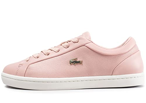 9c5b22786eff7 Lacoste Straightset Trainers Pink  Amazon.co.uk  Shoes   Bags
