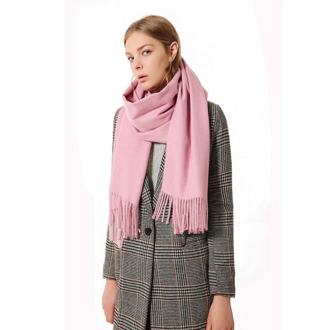 Boomdan Womens Large Soft Imitation cashmere Feel Shawls Wraps Light Scarf Multifunctional warm shawl (Pink)