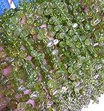 peridote Gemstone teardrop flat Beads pearl drop green Shiny peridot Gemstone Loose beads 6-9mm 16inch