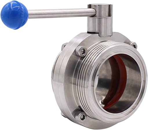"""Sanitary Stainless Steel 304 Pull Handle Tri Clamp Butterfly Valve 1""""-4"""""""