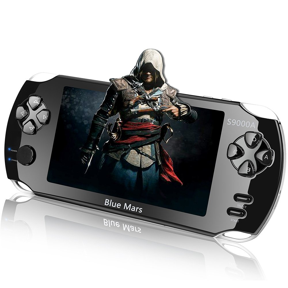 Handheld Game Console, 16GB 5 '' Screen 2200 Classic Games,Portable Video Game Console,PVP Games Player,Video Console,Birthday Gifts For Kids,Electronic Consoles Black