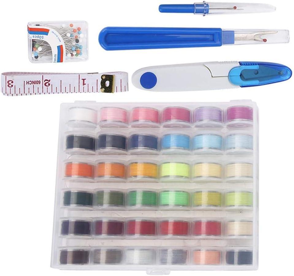 36 bobines de Fil Mini kit de Couture Accessoires de Machine pour Enfants d/ébutants en Voyage HEEPDD Kit de Coudre