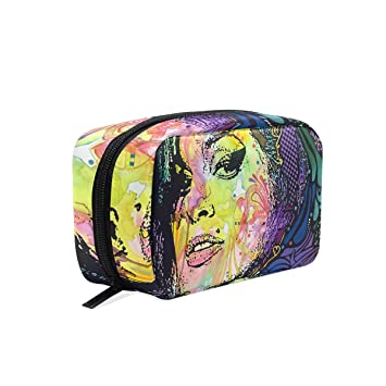 Amazon.com   Travel Toiletry Makeup Bag Amy-Winehouse-Back-To-Blue ... 7ccac563fe