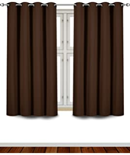 utopia bedding grommet top thermal insulated blackout curtains 2 panels 52 x 63 inch