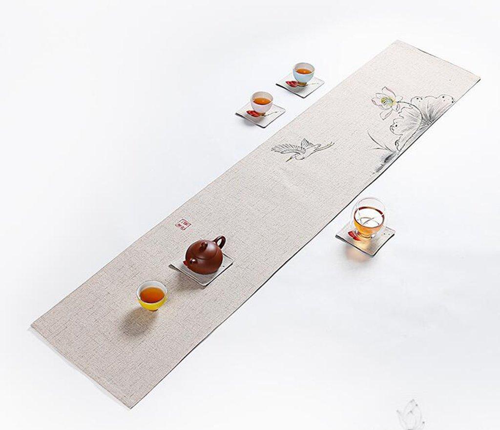 Kaxima Algodón Bandera y Lino, paño, Bandera Algodón de la Mesa, Restaurante, decoración de la Mesa de café 30  150cm fbb058