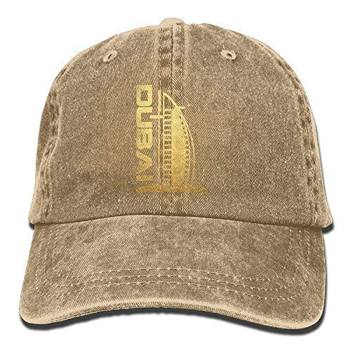 Gold Burj Al Arab Casual Denim Cap Mesh Cap Black Natural ()