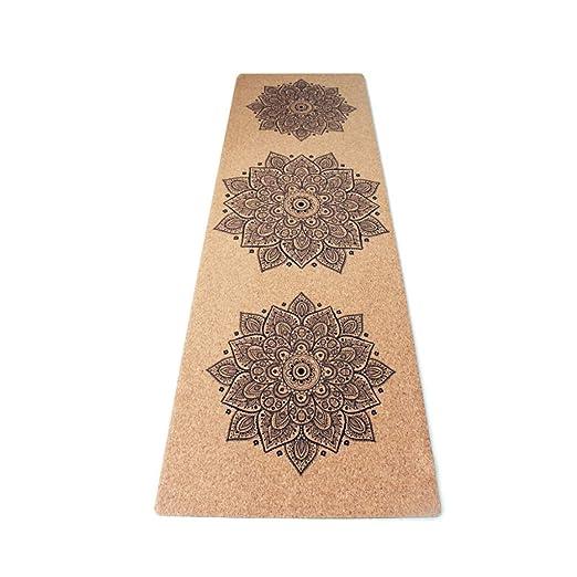 YOBOOW Esterilla de Corcho para Yoga, protección del Medio ...