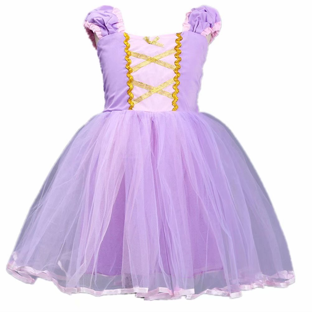 Tsyllyp Little Girls Princess Rapunzel Dress Up Party Costumes