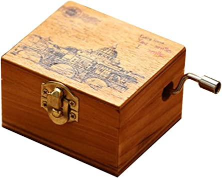 ACCOCO Caja de música personalizable de madera Caja de música ...