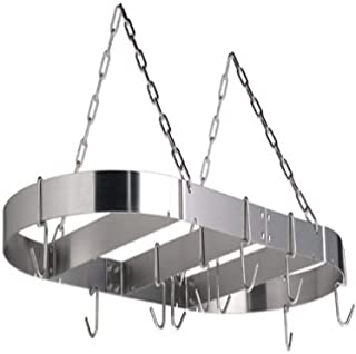 product image for Calphalon 18 by 36-Inch Stainless Steel Oval Pot Rack