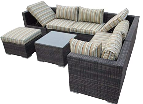 LYQZ Combinación de Mimbre Muebles de Invernadero Esquina ...