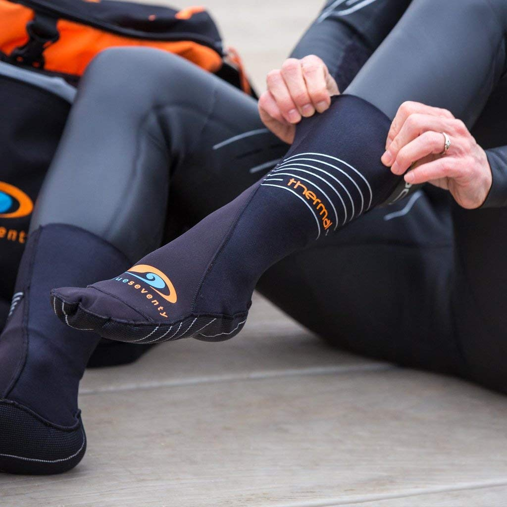 for Triathlon Training and Cold Open Water Swimming blueseventy Thermal Swim Socks