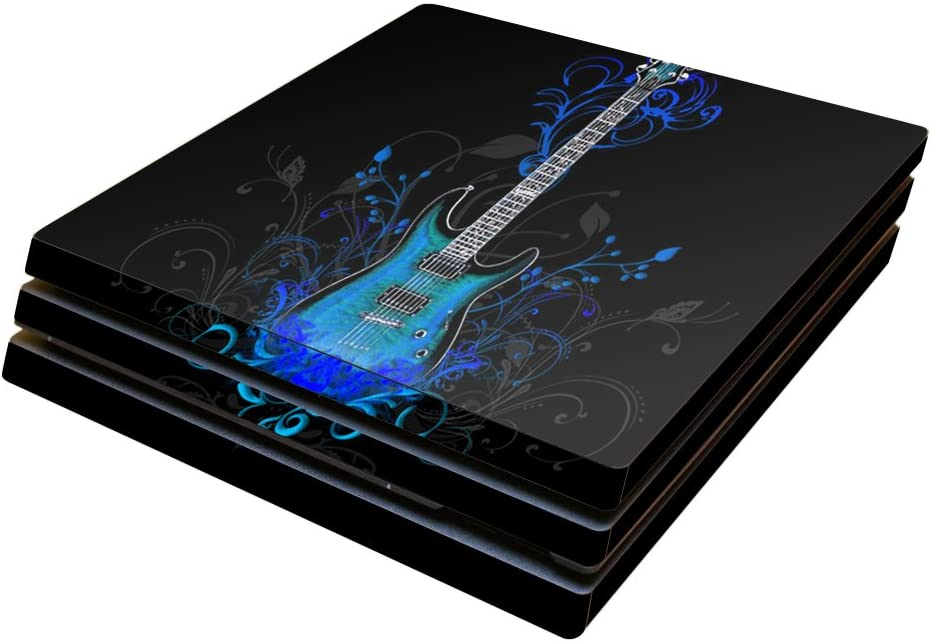 MightySkins Skin Compatible with Sony PS4 Pro Console - Guitar | Protective, Durable, and Unique Vinyl Decal wrap Cover | Easy to Apply, Remove, and Change Styles | Made in The USA