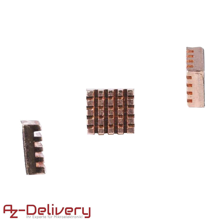 B heatsink AZDelivery ⭐⭐⭐⭐⭐ Refroidisseurs passifs en cuivre or pour dissipateurs de chaleur pour Rasberry Pi Mod/èles A 3 pi/èces