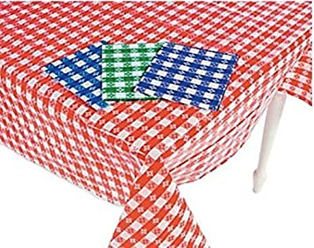 Genial (4) Plastic Checkered Tablecloths   4 Pc  Gingham Picnic Table Covers